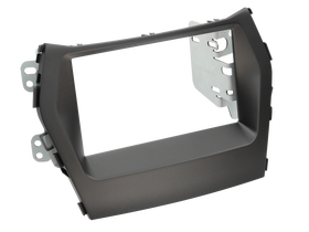 ramka do radia samochodowego niefarbrycznego Hyundai Santa Fe (DM) od 2012 2 DIN czarny