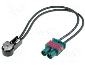 Adapter antenowy; Fakra wtyk x2,ISO wtyk kątowy
