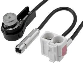 Adapter antenowy Audi; Fakra gniazdo, ISO gniazdo kątowe; 0,25m;
