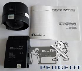 Autoalarm samochodowy Cobra AK4416 do Peugeot