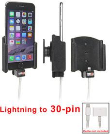 Uchwyt do Apple iPhone 7 z możliwością wpięcia kabla lightning z 30-pinowym adapterem