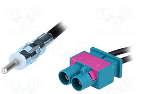 Adapter antenowy; DIN wtyk,Fakra wtyk x2