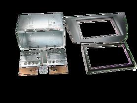 ramka do radia samochodowego niefarbrycznego Seat Leon od 2005 2 DIN antracyt zestaw