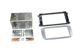 Ramka radiowa Ford Focus, Galaxy, Mondeo 2 DIN srebrna zestaw