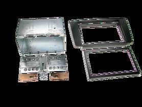 ramka do radia samochodowego niefarbrycznego Skoda Yeti Skoda Octavia II od 2004 2 DIN czarna zestaw
