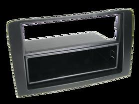 ramka do radia samochodowego niefarbrycznego Fiat Idea, Lancia Musa 2 ISO czarna z półką