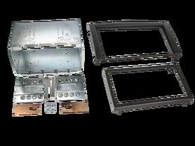ramka do radia samochodowego niefarbrycznego Skoda Fabia od 2003 do 2006 2 DIN czarna zestaw