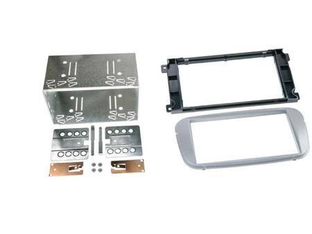 Ramka radiowa Ford Focus, Galaxy, Mondeo 2 DIN srebrna zestaw (1)